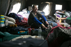 The women's tent