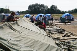 7.7.18 - Setting up dormitory tent b