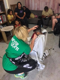 Haircuts for our residents