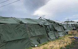Exterior view of tents