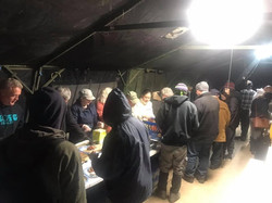 Dinner at Camp Hope