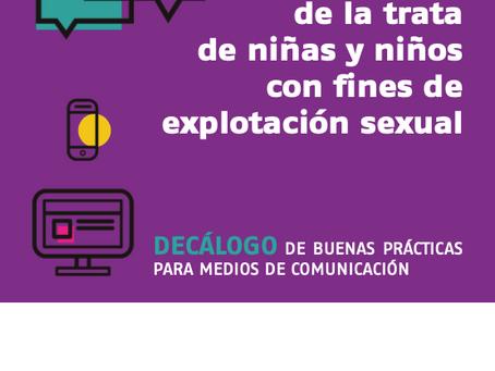 El tratamiento informativo de la trata de niñas y niños con fines de explotación sexual.
