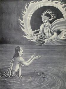 Surya_gifts_Yudhishthira_the_Akshayapatra