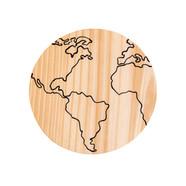 Plaquinha Mapa Mundi