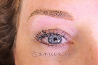 Soft powder brow healed upper and lower lash enhancement
