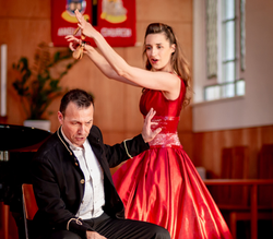 Carlos & Olesia in Roses & Daggers