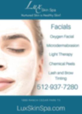 Facials, Cedar Park TX, Lux Skin Spa
