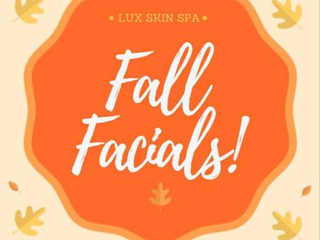 Orange Zest Fall Facial!