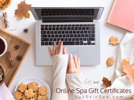 Online Spa Gift Certificates