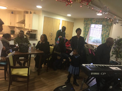 christmas visit to the elderly  willow housde