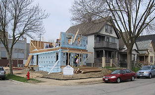 Image of a home being constructed by Habitat for Humanity in Southeastern Wisconsin.