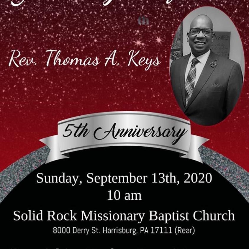 Pastor Keys 5th Pastoral Anniversary