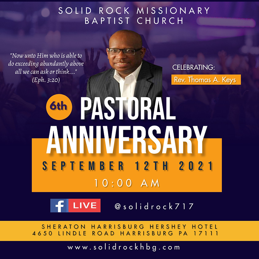 Rev. Keys 6th Pastoral Anniversary