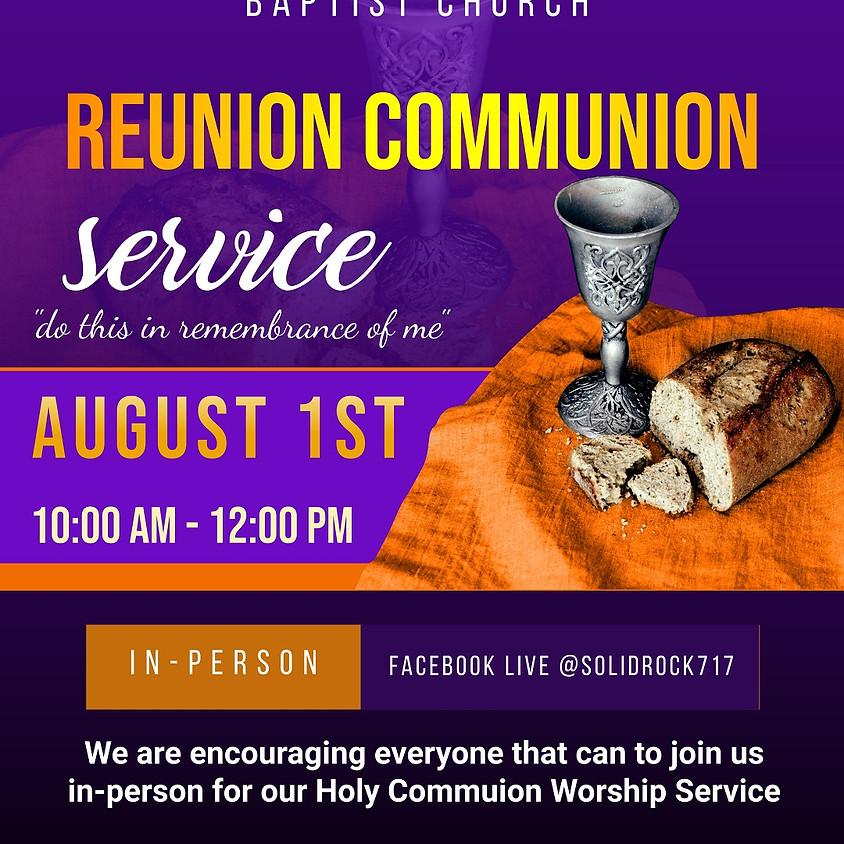 SRMBC Reunion Communion Service