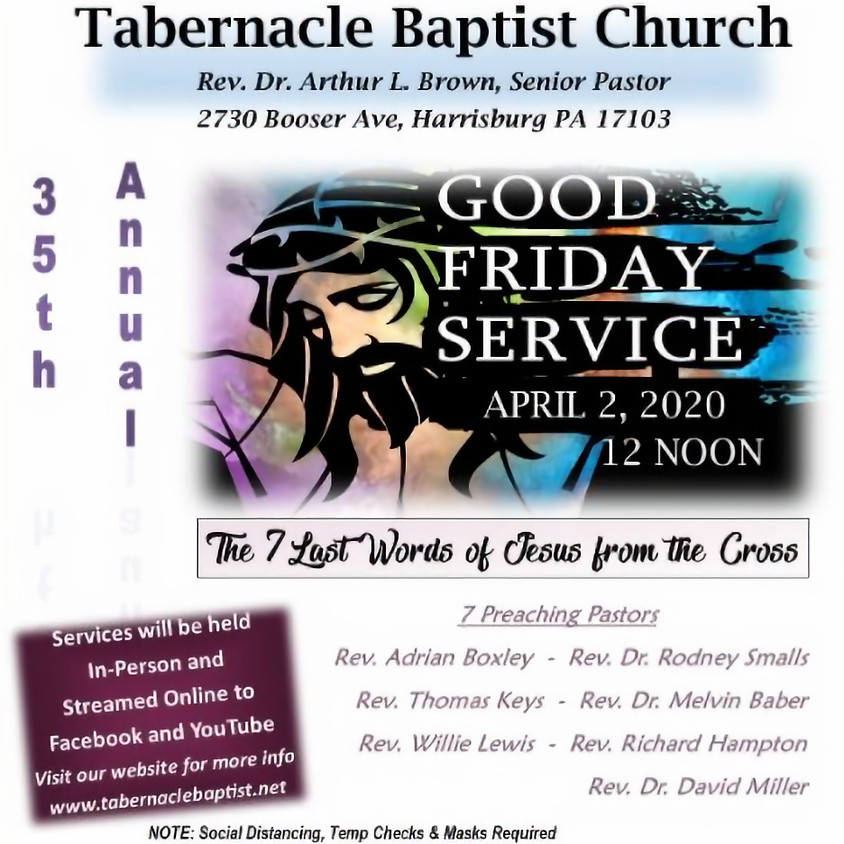 2021 Good Friday Service  @ TBC (In - Person and Online)
