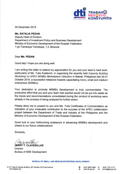 Reference from DTI, the Philippines