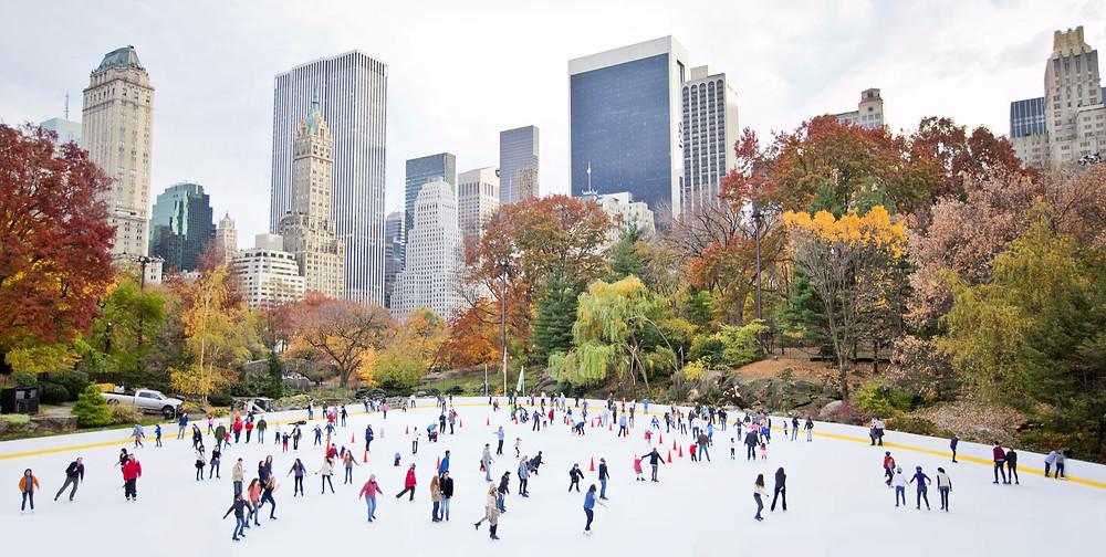 Pista pattinaggio ghiaccio New York