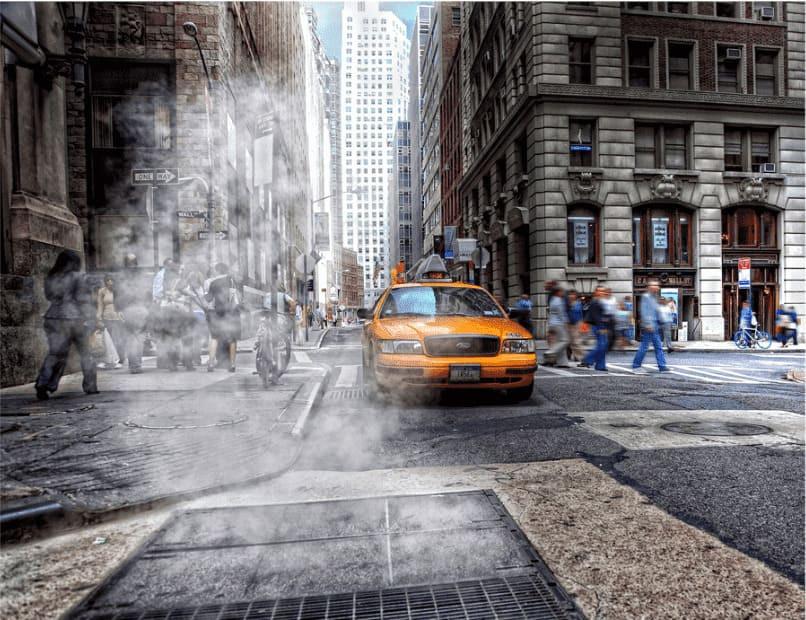 Il caratteristico vapore di New York