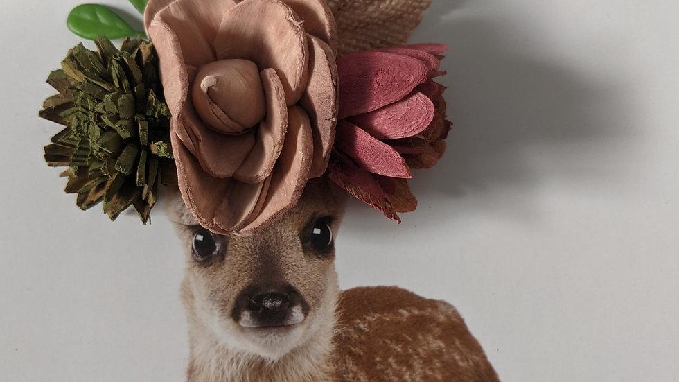 Deer, Silver Frame