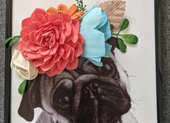 Pug, Black Frame
