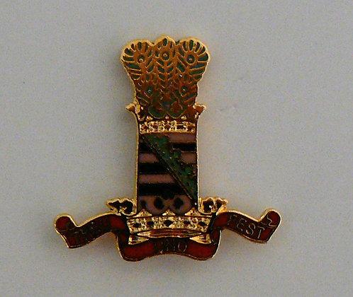 11th Hussars Lapel Badge.