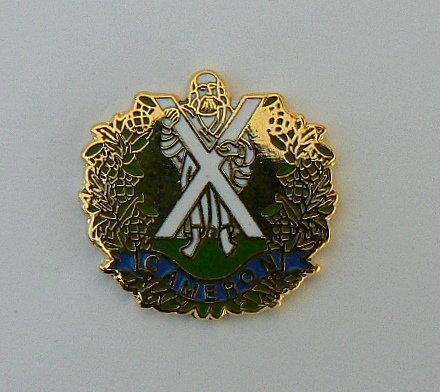 Cameron Highlanders Lapel Badge.