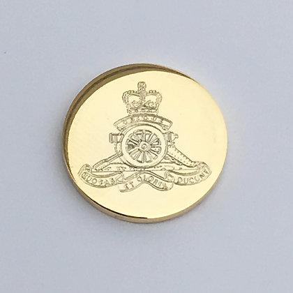 Royal Artillery Large Blazer Button