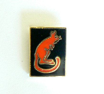 Desert Rat Lapel Badge.