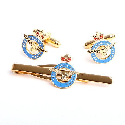 Royal Air Force Cufflink and Tiebar Gift Set