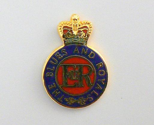 Blues and Royals Lapel Badge.