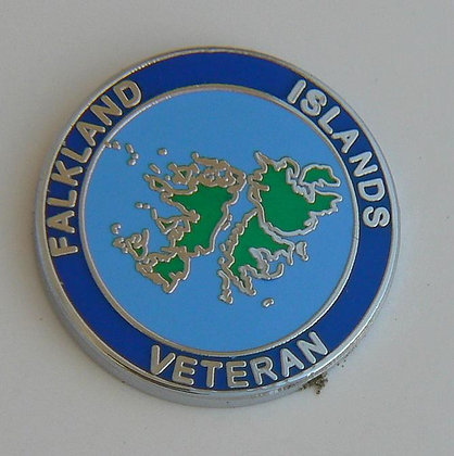 Falklands Veteran Lapel Badge.