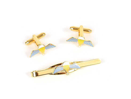Para Qualification Wings Cufflink and Tie Slide.