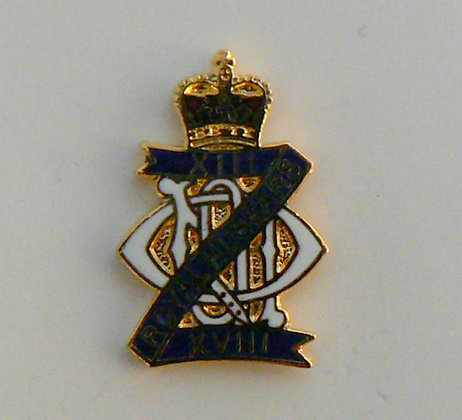 13th 18th Royal Hussars Lapel Badge.