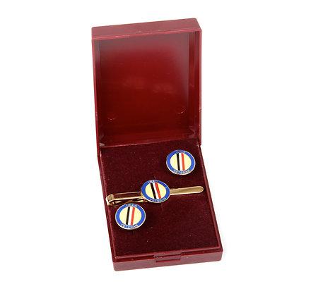 Iraq Veteran Cufflink and Tie slide gift set