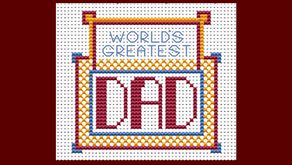 Last minute father's day stitching (free chart!)