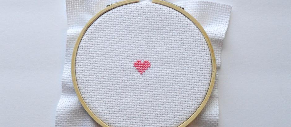 Cross Stitch Beginner Pattern #1 (Heart free chart)