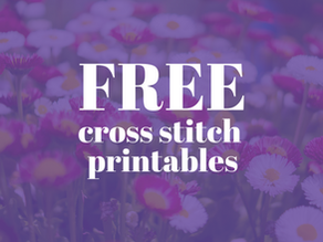 Free cross stitch printable: July and August stitching logs