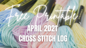 Free Printable: April 2021 Cross Stitch Projects