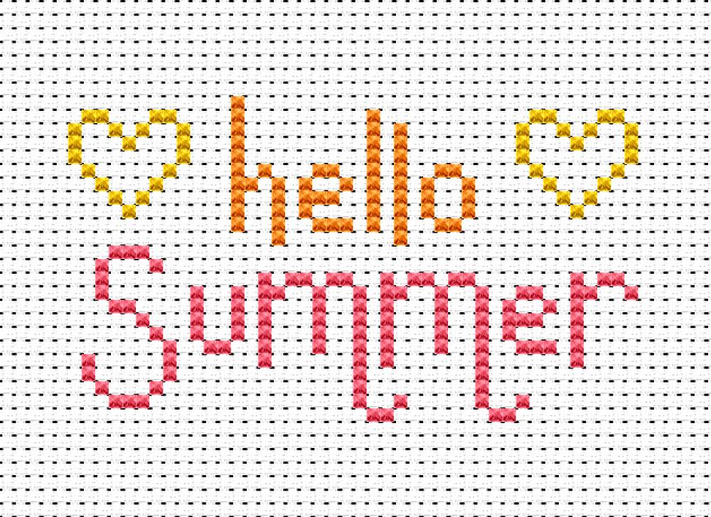 A free summer cross stitch chart.