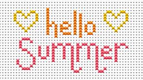 Free xstitch chart: Hello summer!