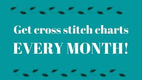 Get exclusive cross stitch charts!