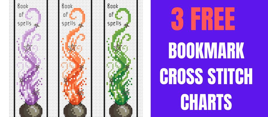 Free Cross Stitch Chart: Cauldron Bookmark