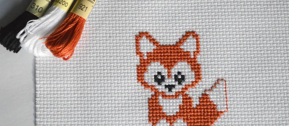 Cross Stitch Beginner Pattern #3 (Cute Fox free chart)