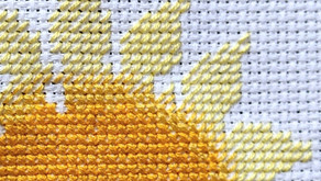 LOVE or HATE yellow cross stitch?