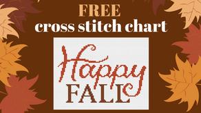 Free Cross Stitch Chart: Happy Fall!