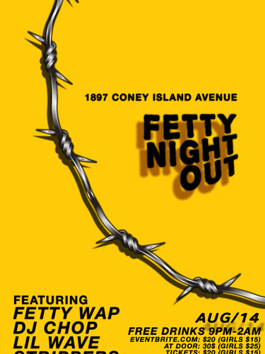 Fetty Wap AUG 14 2018 Fetty Night Out