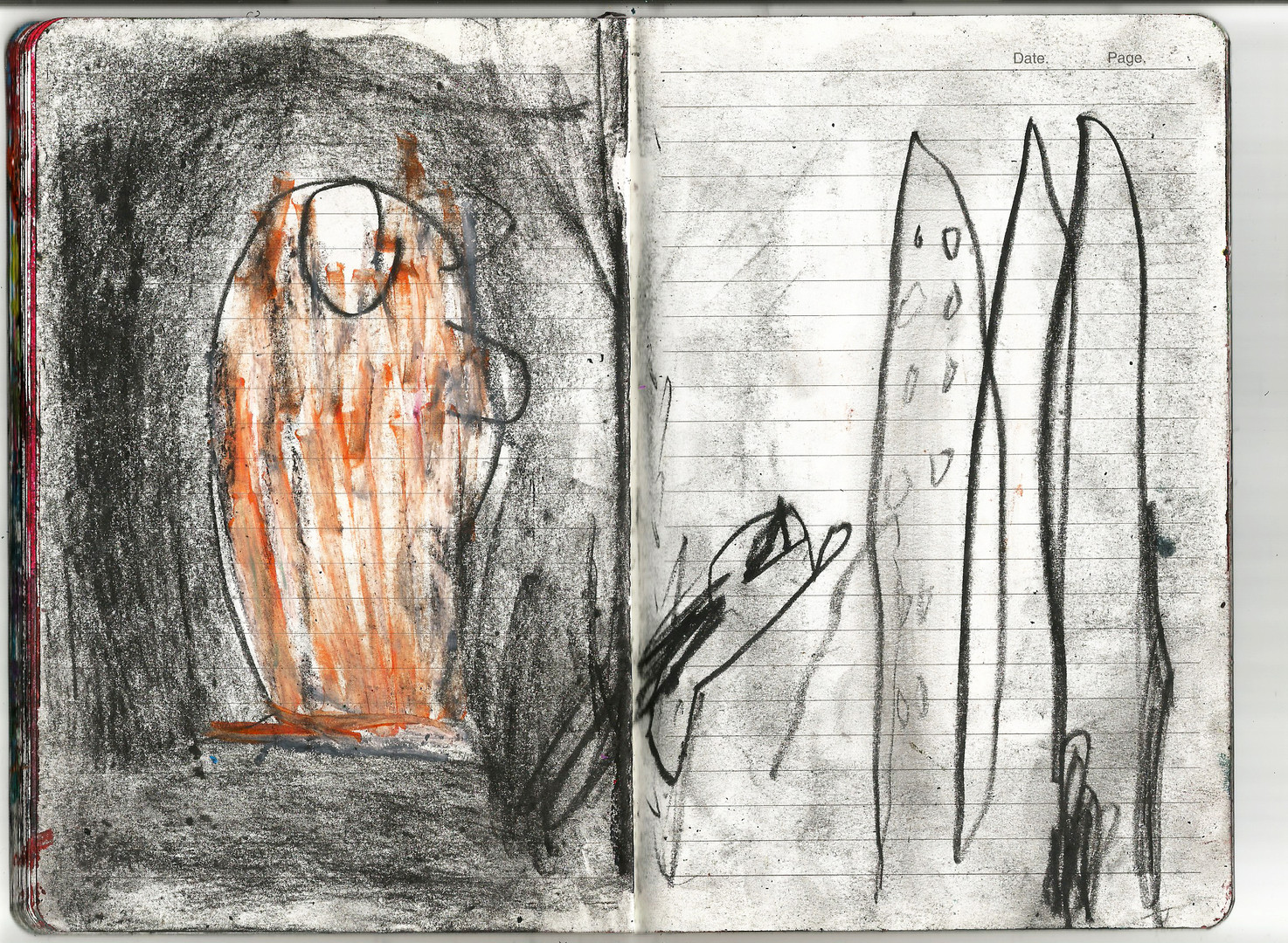 October Drawings in Notebook 2019