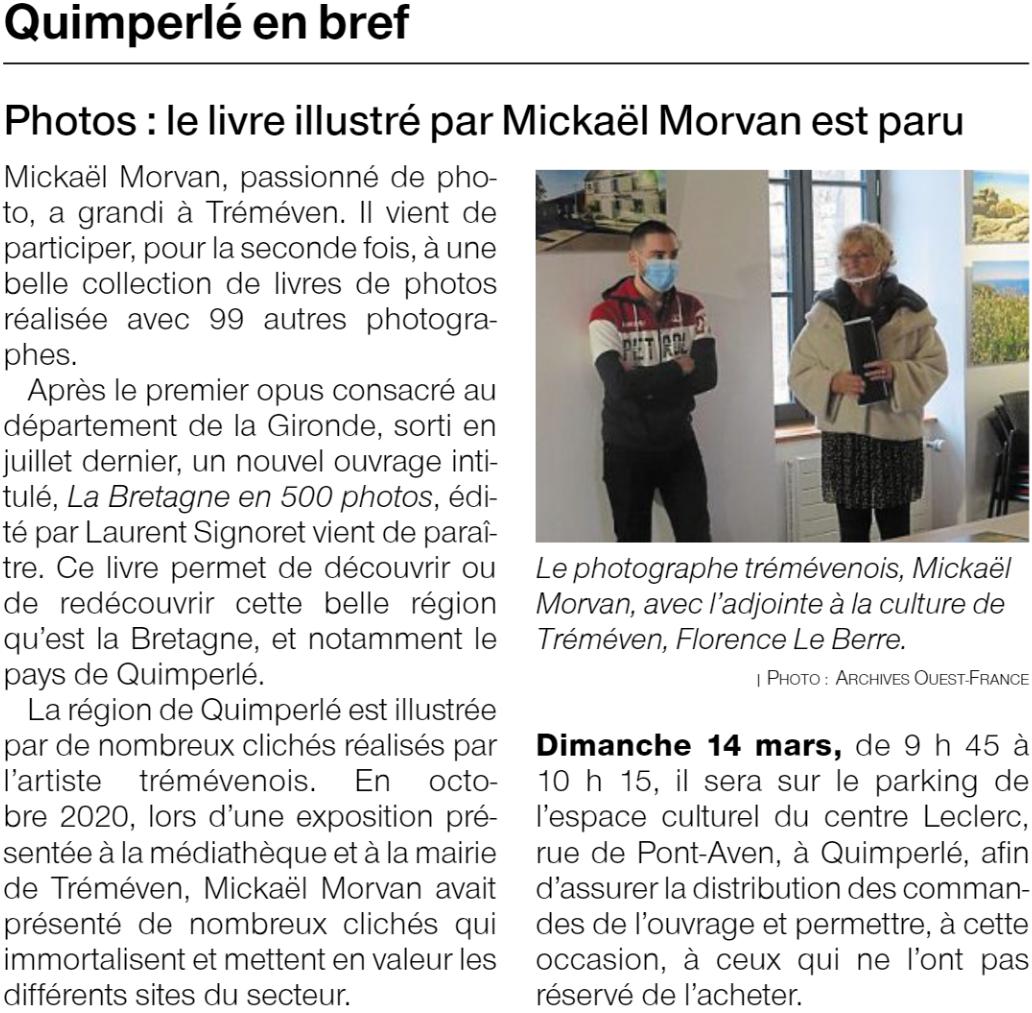 Tréméven. Photos : le livre sur la Bretagne illustré par Mickaël Morvan est paru