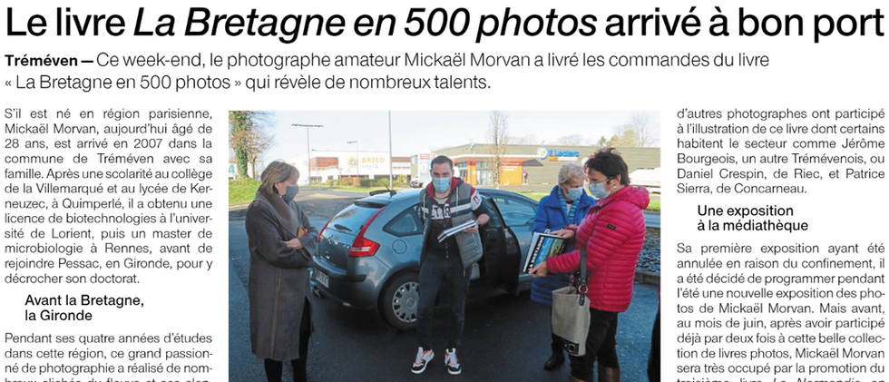 Tréméven. Le livre La Bretagne en 500 photos arrivé à bon port