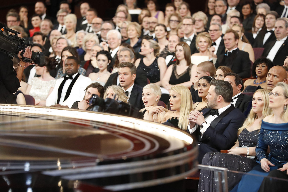 Shocked audience at Oscars